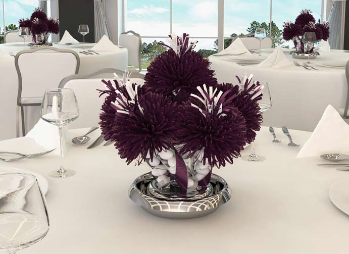 Eggplant Wedding Centerpieces