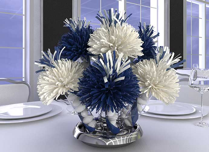 blue flower centerpieces for weddings