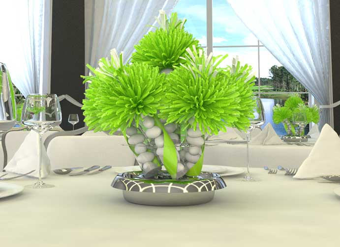 Lime Green Graduation Centerpieces