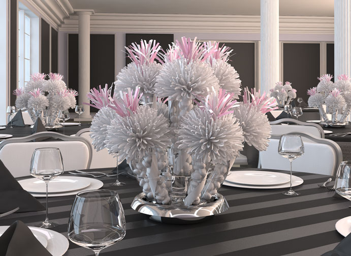 Turn your favors into a gorgeous wedding centerpiece