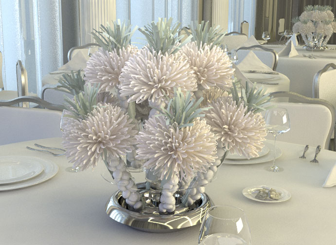 Ivory Wedding Centerpiece