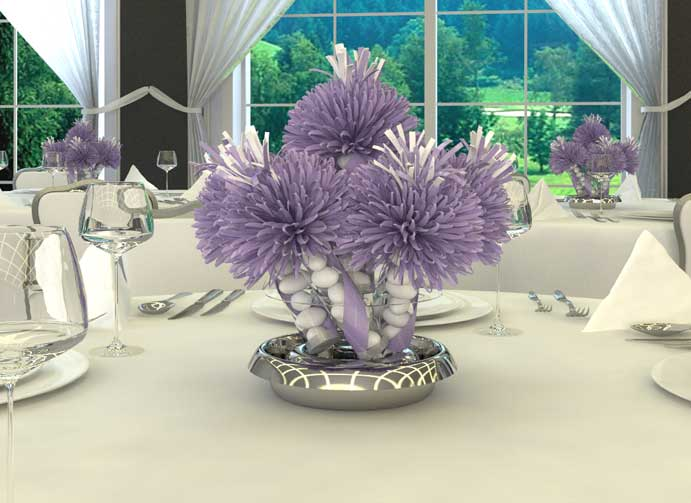 A Unique Wedding Centerpiece Solution